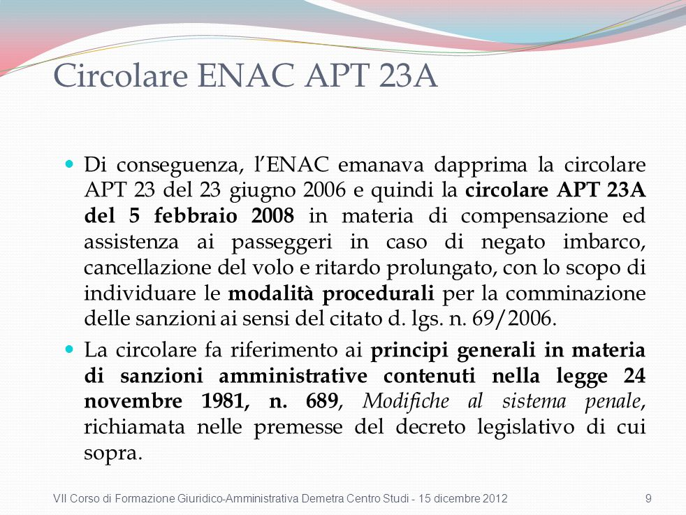 ENAC organismo responsabile dell'applicazione delle sanzioni