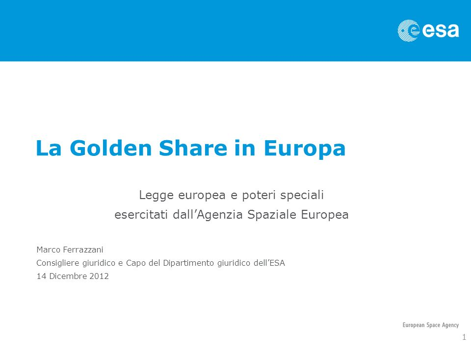 La Golden Share in Europa
