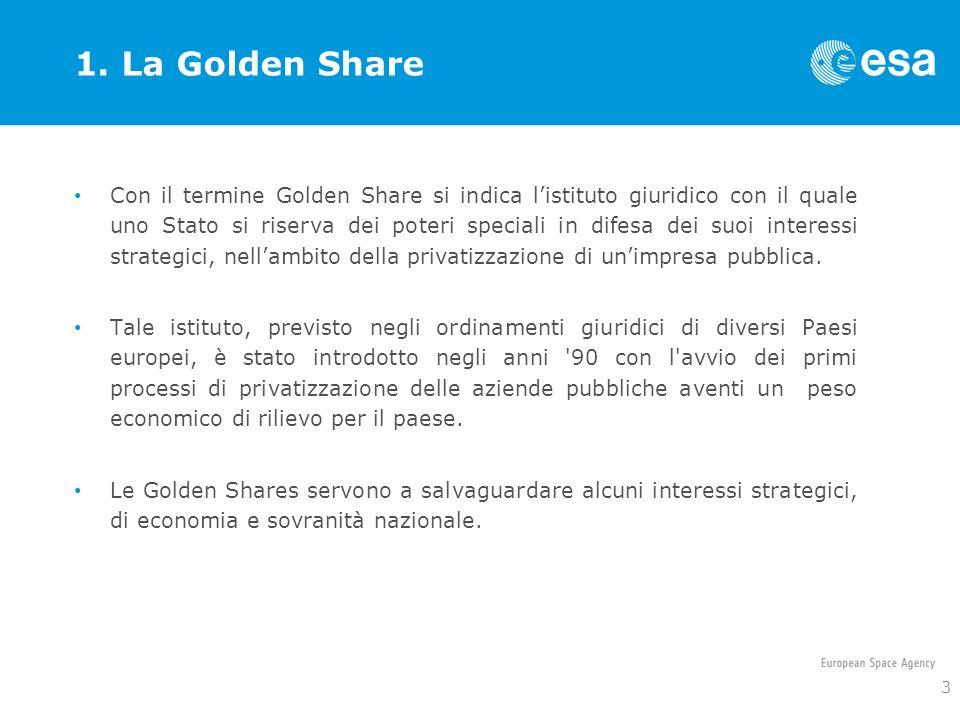 1. La Golden Share