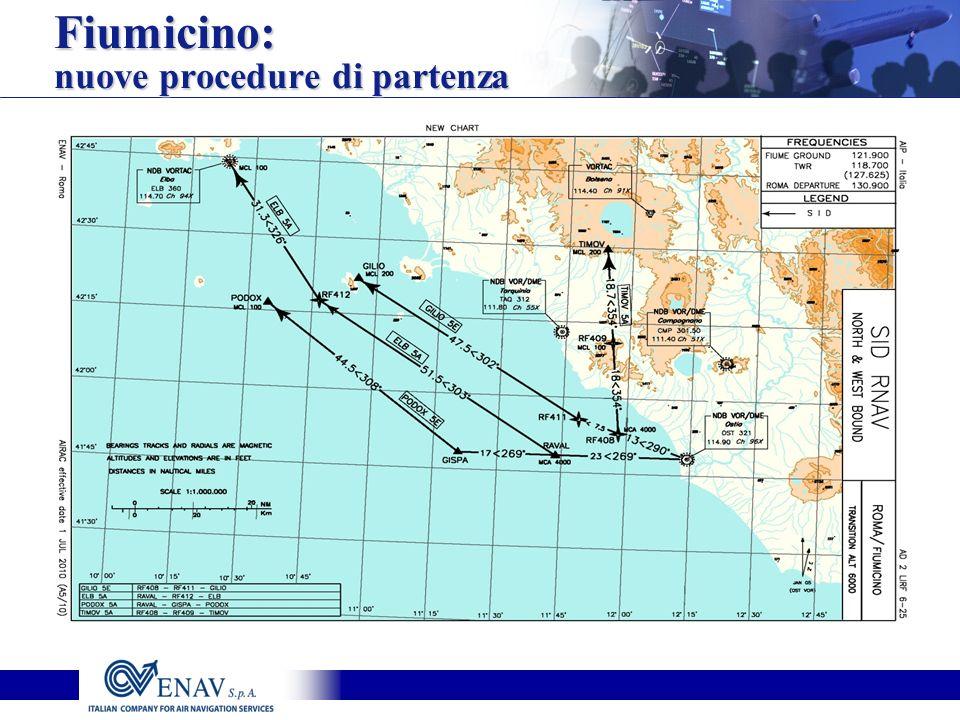 Fiumicino: nuove procedure di partenza