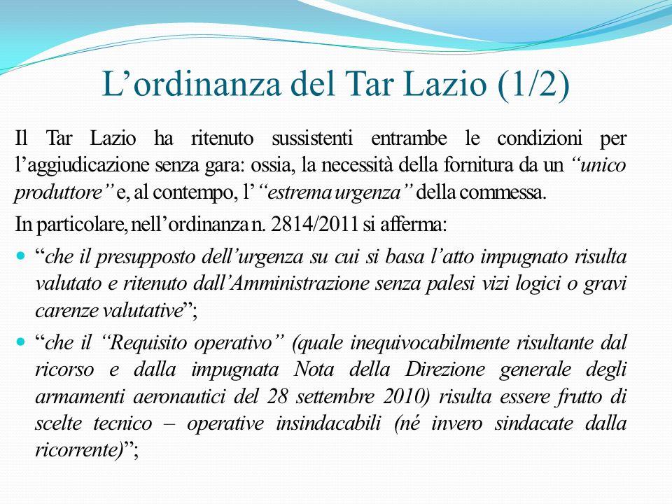 L'ordinanza del Tar Lazio (1/2)