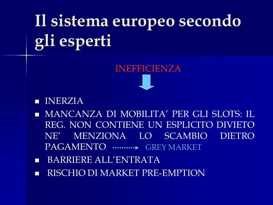 Il sistema europeo secondo gli esperti