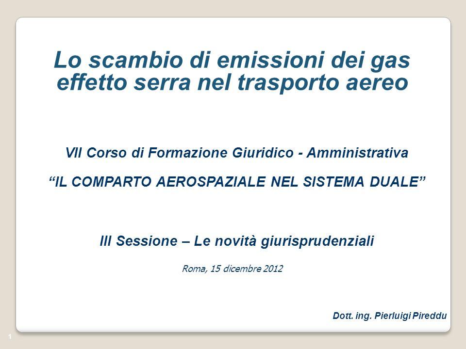 Lo scambio di emissioni dei gas effetto serra nel trasporto aereo