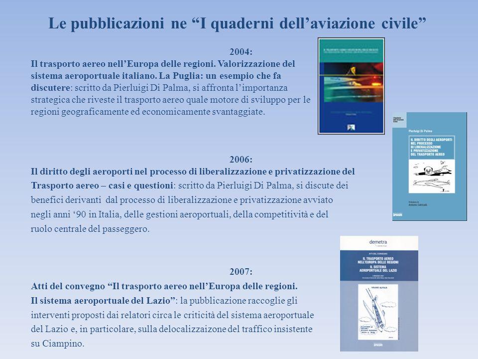 Le pubblicazioni ne I quaderni dell'aviazione civile
