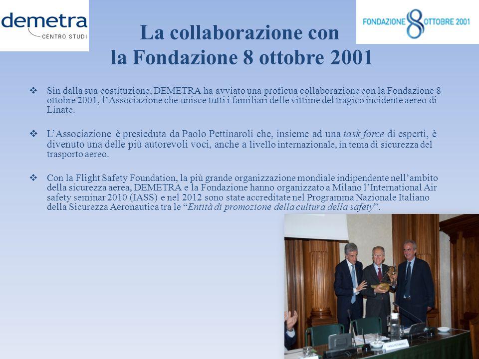La collaborazione con la Fondazione 8 ottobre 2001