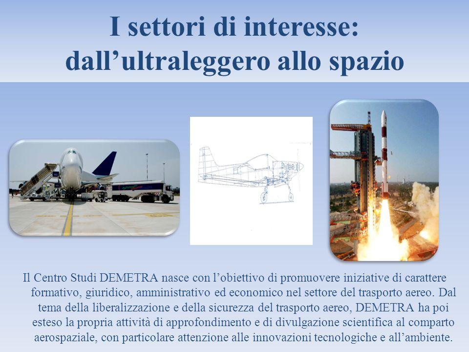 I settori di interesse: dall'ultraleggero allo spazio