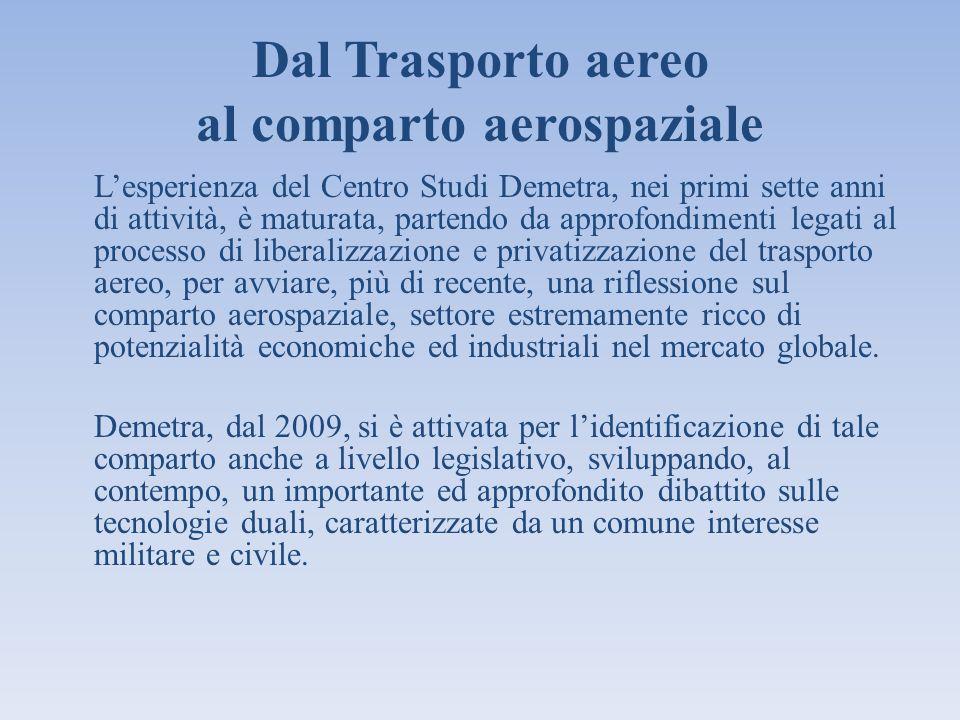 Dal Trasporto aereo al comparto aerospaziale