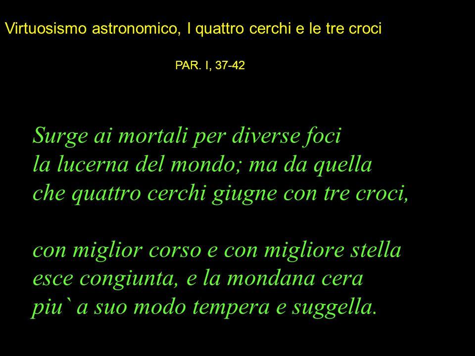 Virtuosismo astronomico, I quattro cerchi e le tre croci
