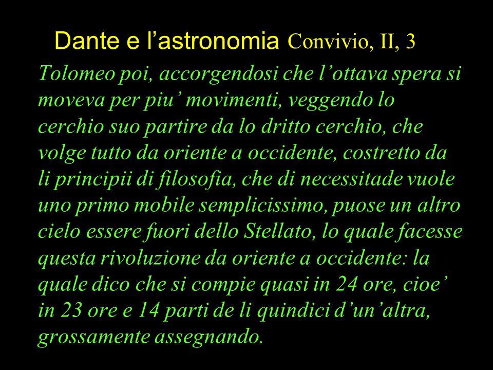 Dante e l'astronomia Convivio, II, 3