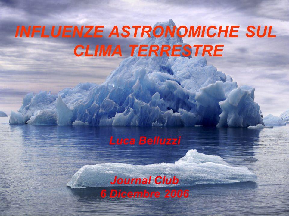 INFLUENZE ASTRONOMICHE SUL