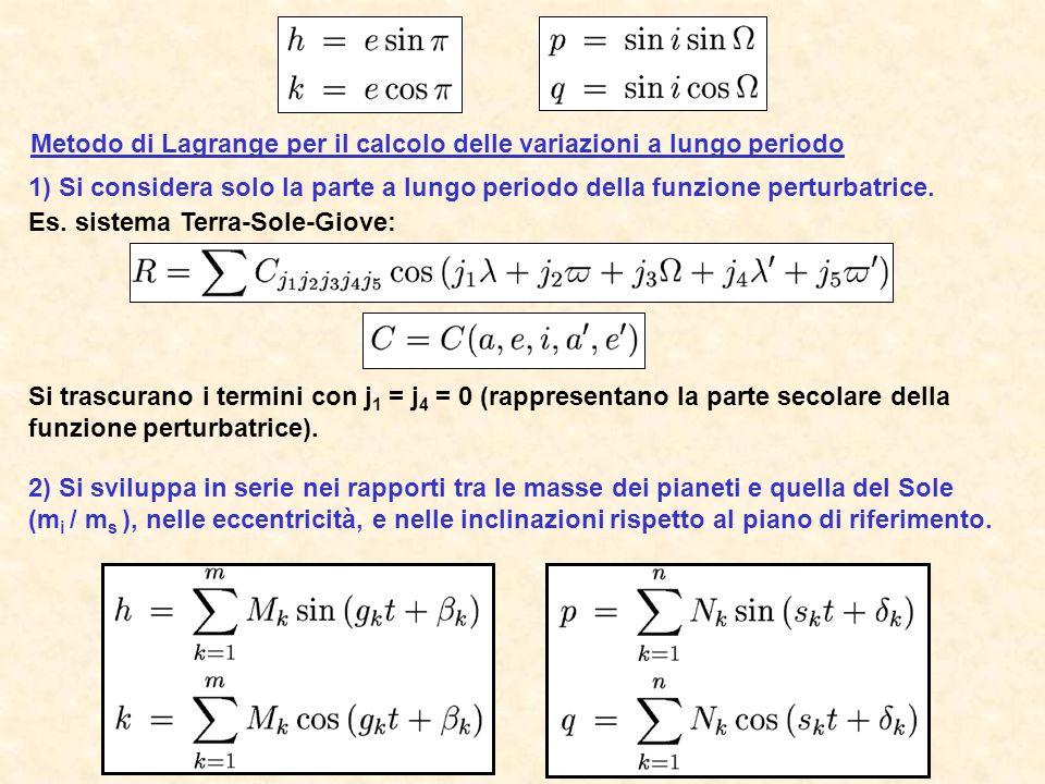 Metodo di Lagrange per il calcolo delle variazioni a lungo periodo