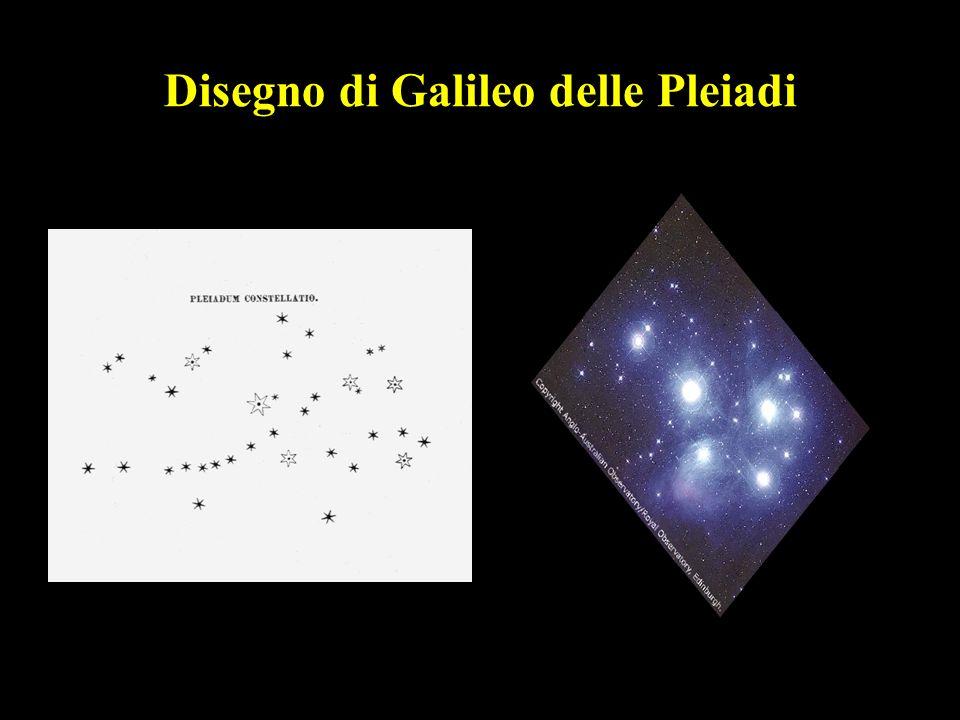 Disegno di Galileo delle Pleiadi