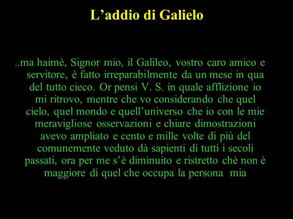 L'addio di Galielo