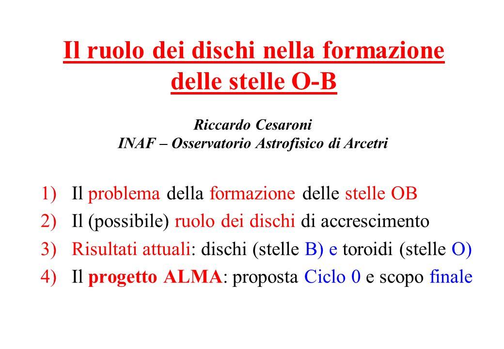 Il ruolo dei dischi nella formazione delle stelle O-B
