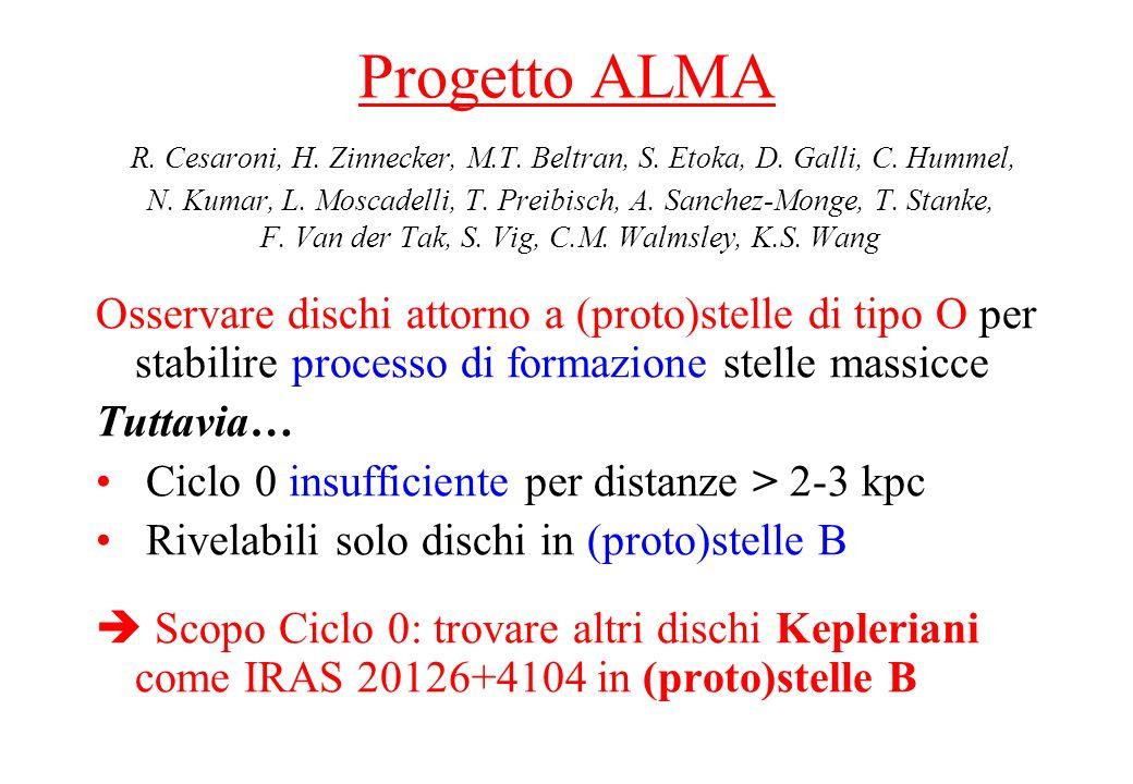 Progetto ALMA R. Cesaroni, H. Zinnecker, M. T. Beltran, S. Etoka, D