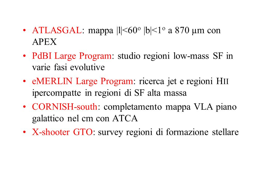 ATLASGAL: mappa |l|<60o |b|<1o a 870 µm con APEX