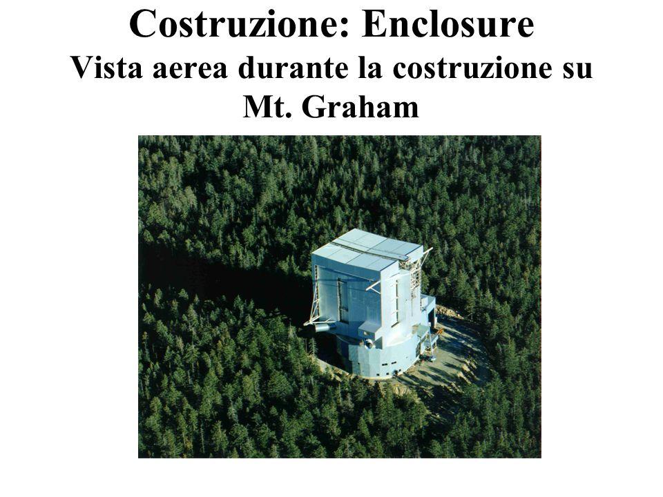 Costruzione: Enclosure Vista aerea durante la costruzione su Mt. Graham