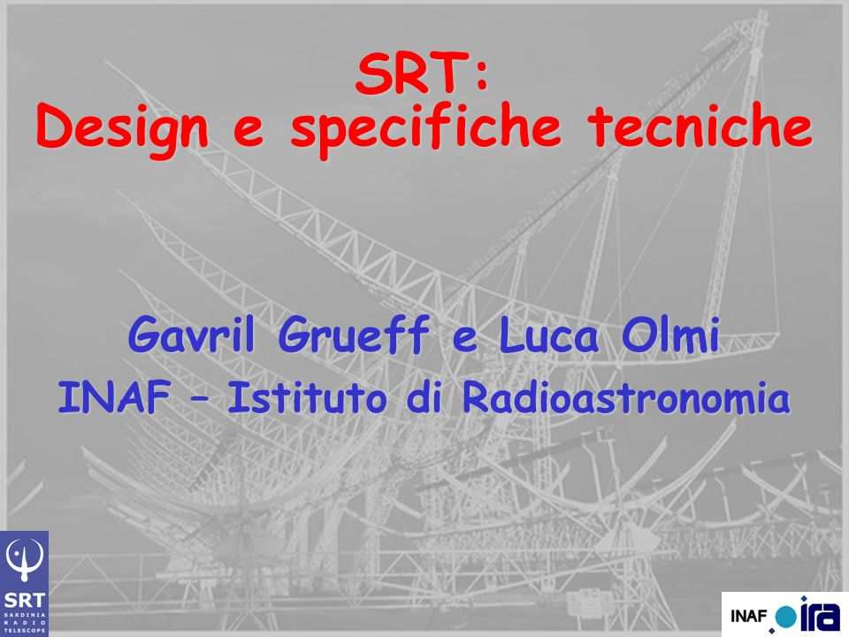 SRT: Design e specifiche tecniche