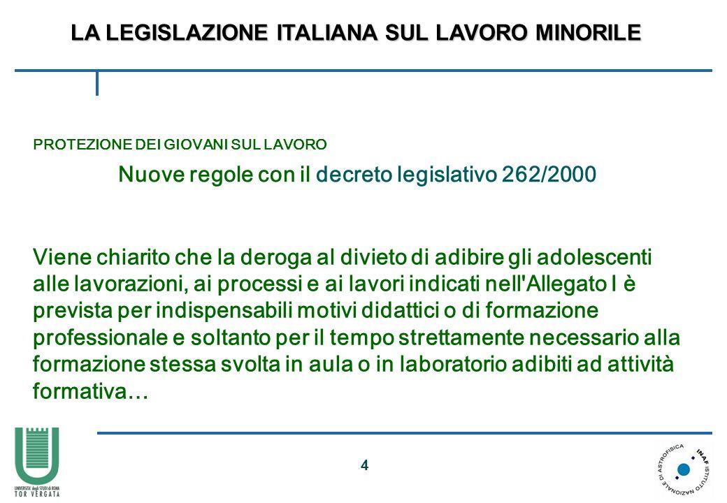 Nuove regole con il decreto legislativo 262/2000