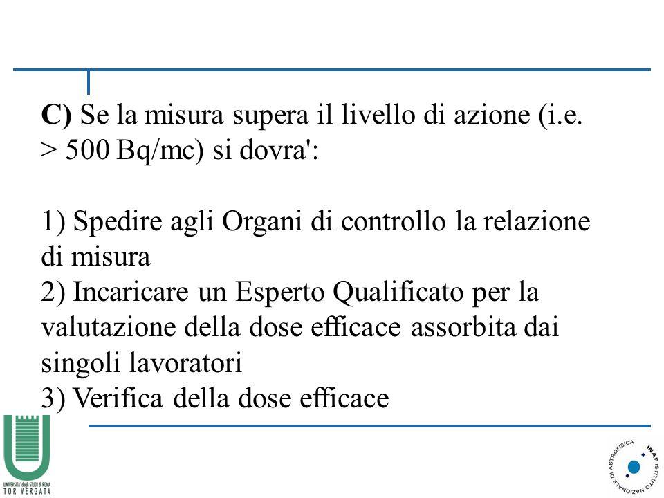 C) Se la misura supera il livello di azione (i. e
