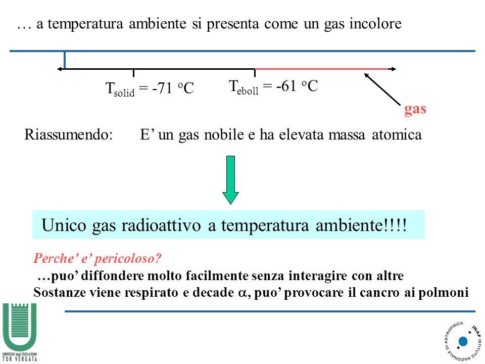 Unico gas radioattivo a temperatura ambiente!!!!