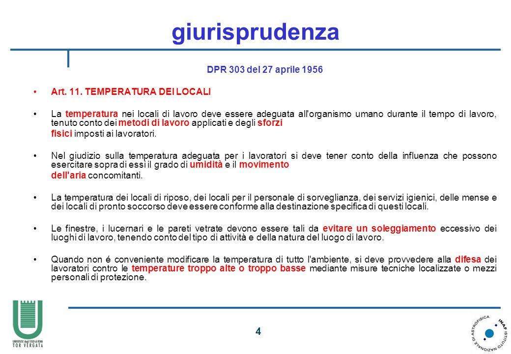 giurisprudenza DPR 303 del 27 aprile 1956