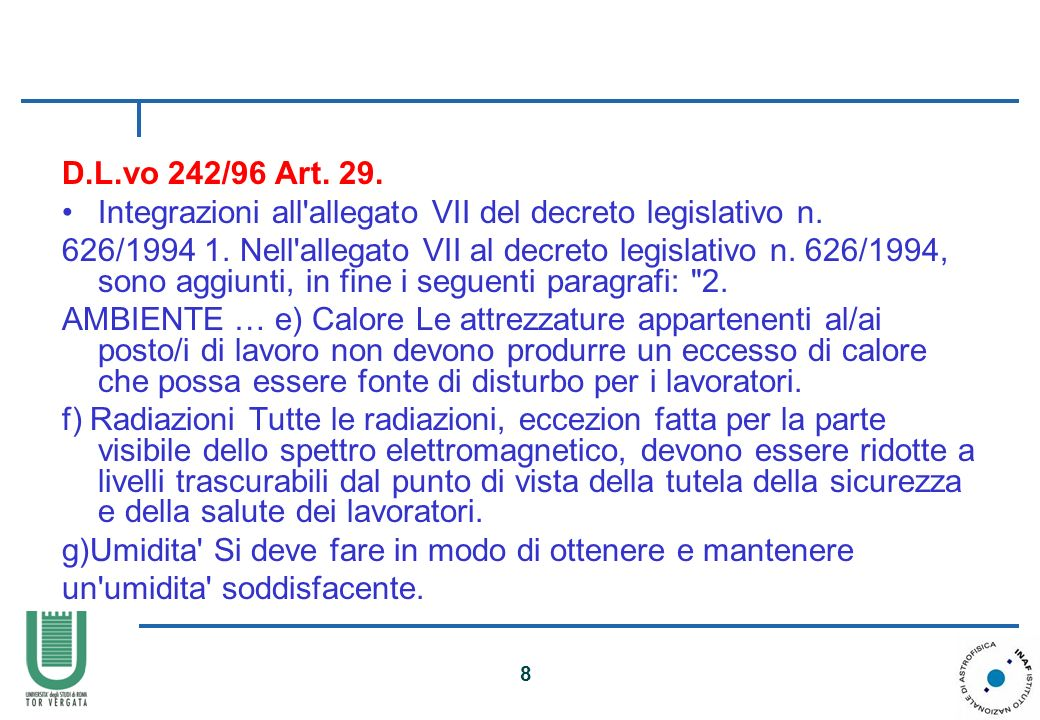 D.L.vo 242/96 Art. 29. Integrazioni all allegato VII del decreto legislativo n.
