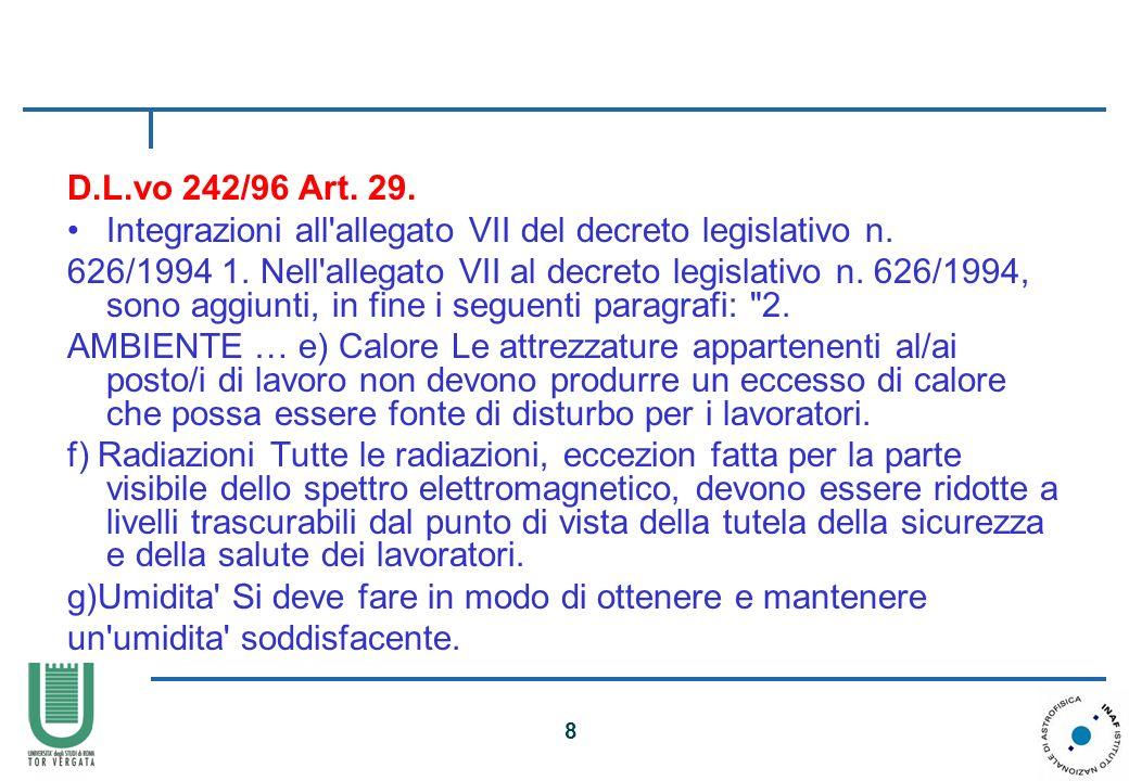 D.L.vo 242/96 Art. 29.Integrazioni all allegato VII del decreto legislativo n.