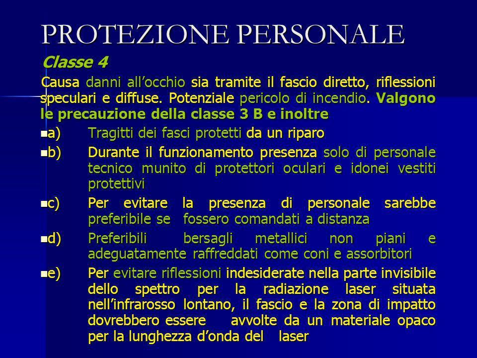PROTEZIONE PERSONALE Classe 4