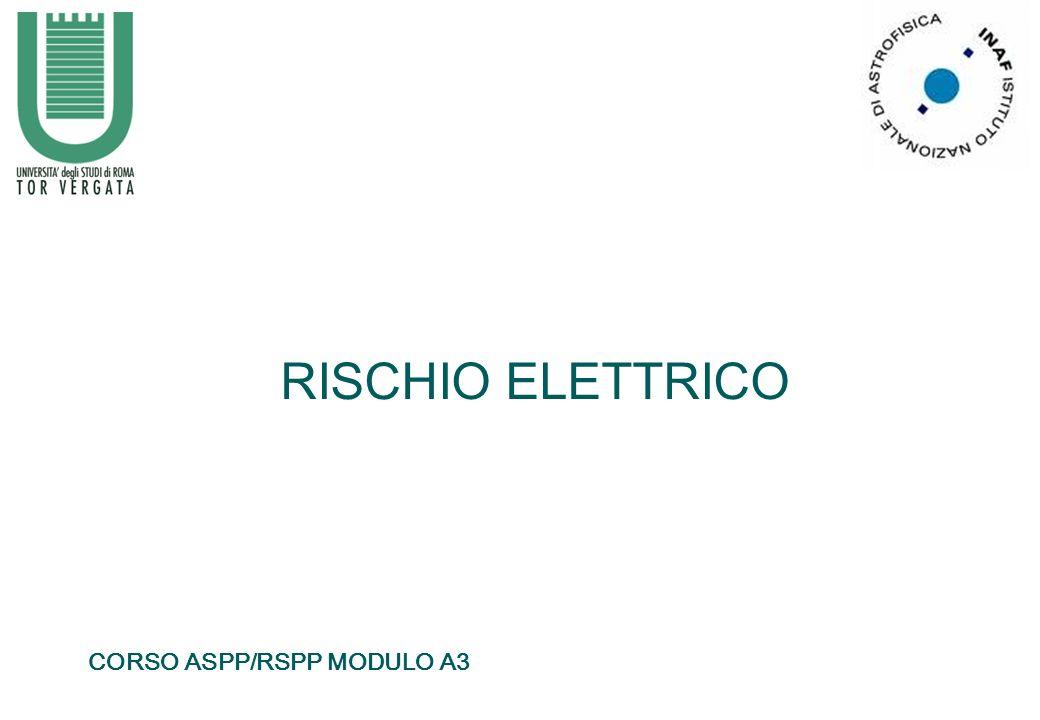 RISCHIO ELETTRICO CORSO ASPP/RSPP MODULO A3