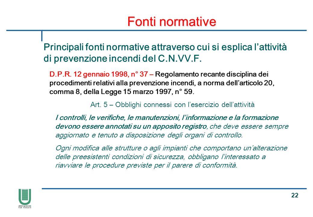 Art. 5 – Obblighi connessi con l'esercizio dell'attività