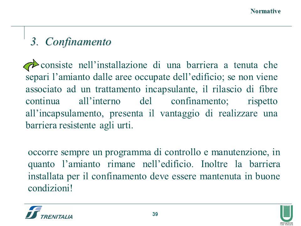 Normative 3. Confinamento.