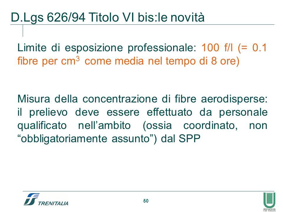 D.Lgs 626/94 Titolo VI bis:le novità
