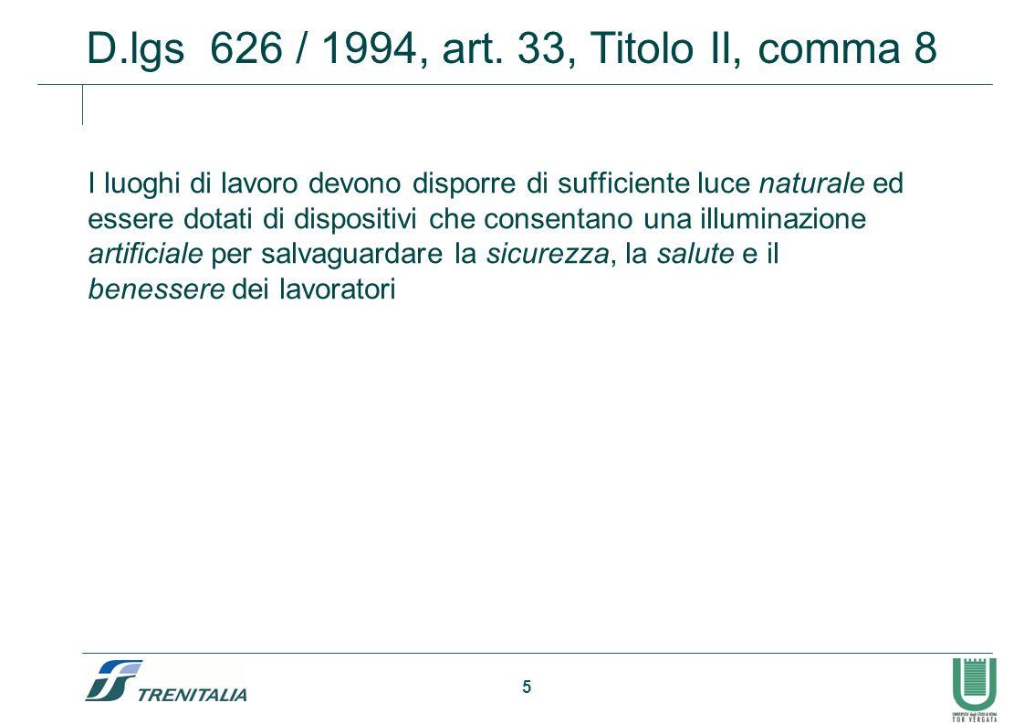 D.lgs 626 / 1994, art. 33, Titolo II, comma 8