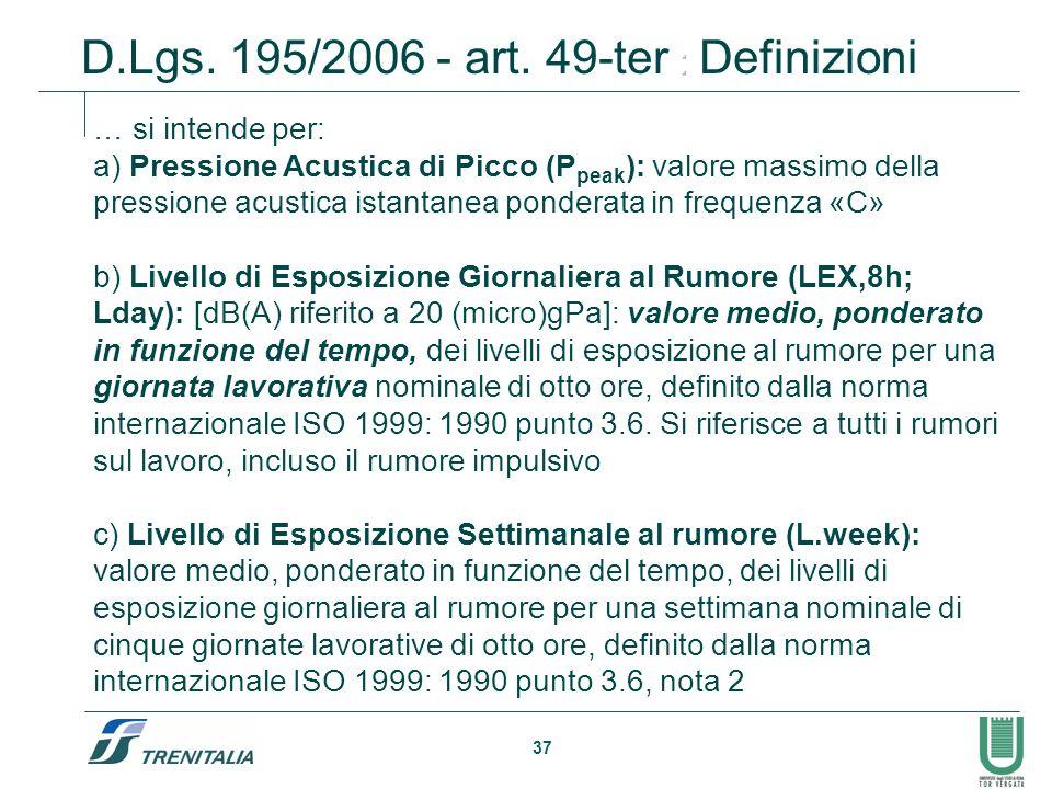 D.Lgs. 195/2006 - art. 49-ter : Definizioni