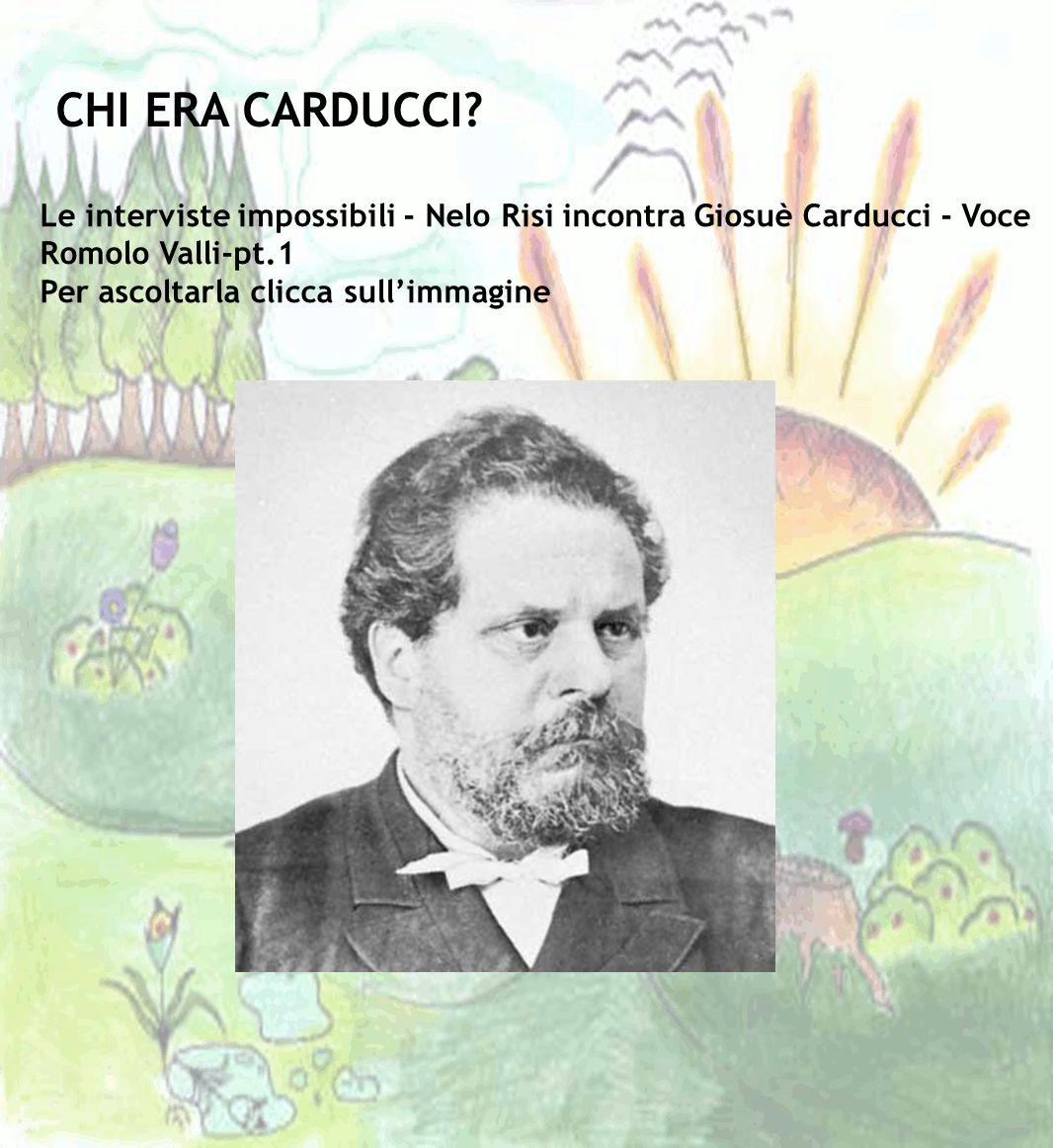 CHI ERA CARDUCCI Le interviste impossibili - Nelo Risi incontra Giosuè Carducci - Voce Romolo Valli-pt.1.