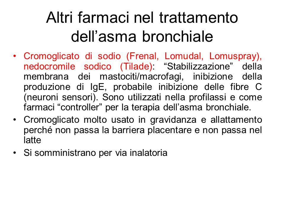 Altri farmaci nel trattamento dell'asma bronchiale