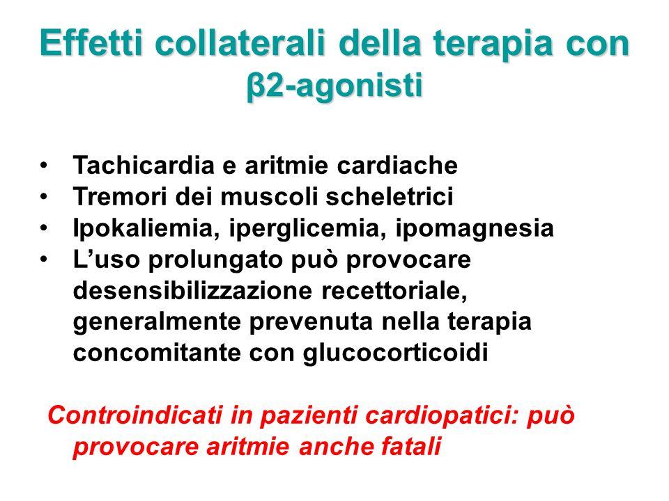Effetti collaterali della terapia con β2-agonisti