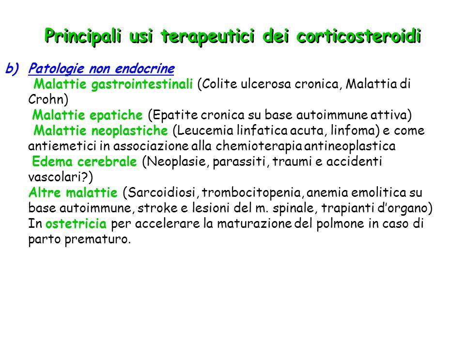 Principali usi terapeutici dei corticosteroidi