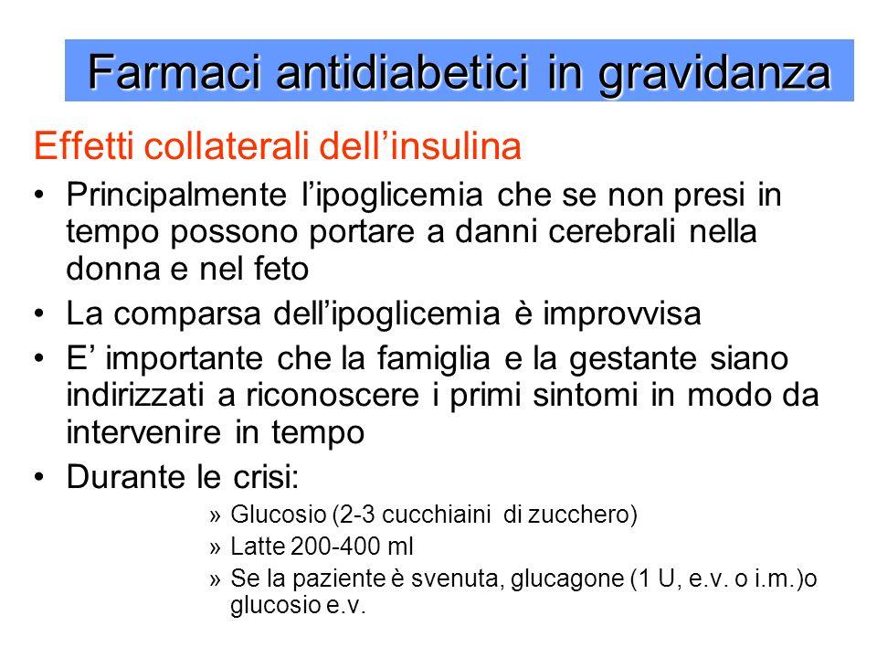 Farmaci antidiabetici in gravidanza