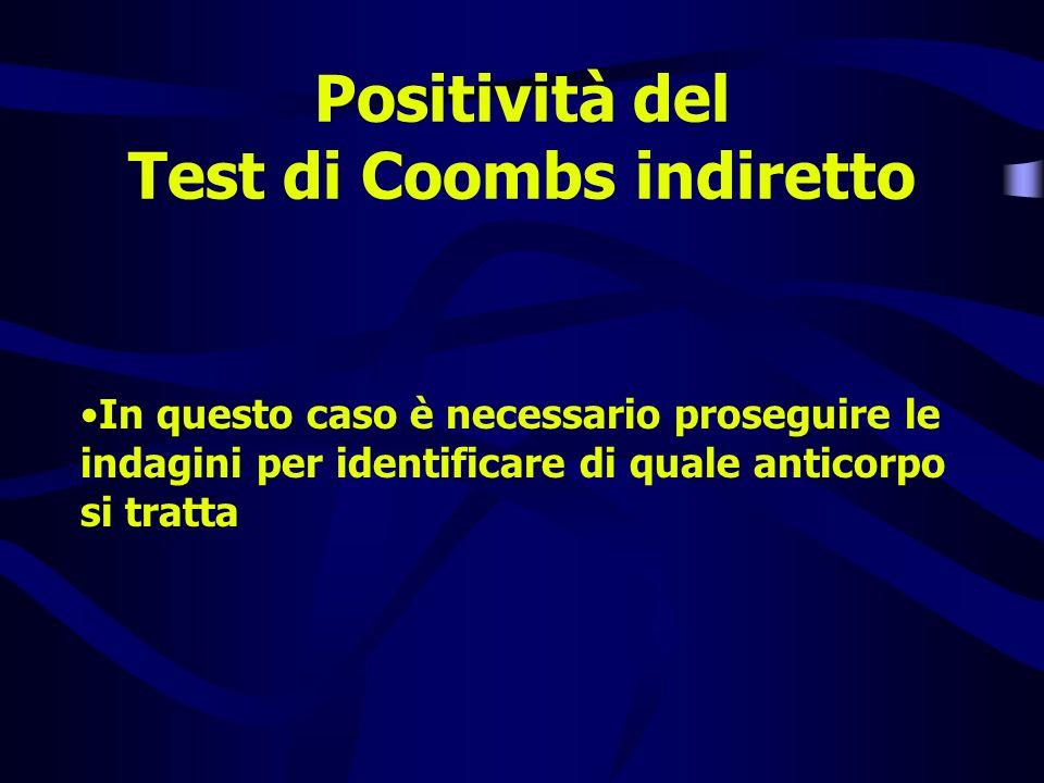 Positività del Test di Coombs indiretto