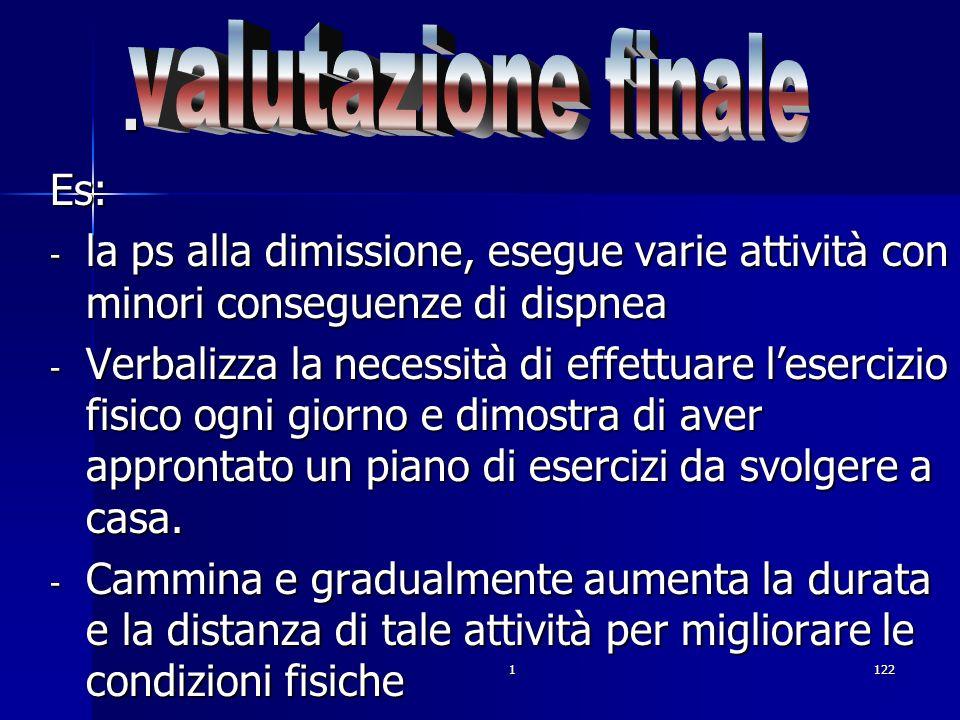. valutazione finale Es: