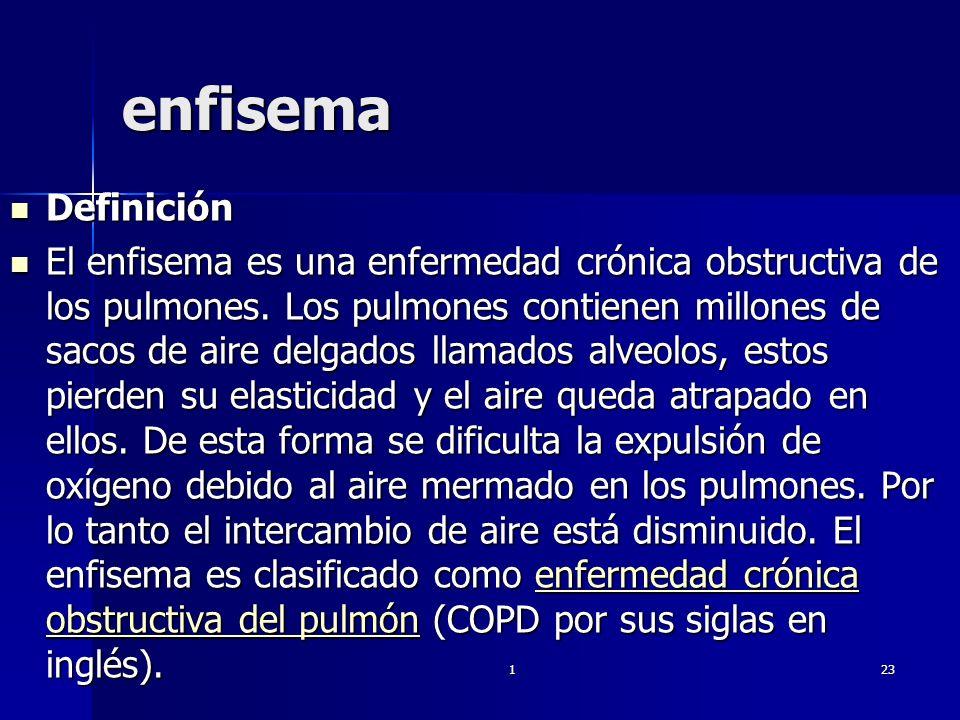 enfisema Definición.