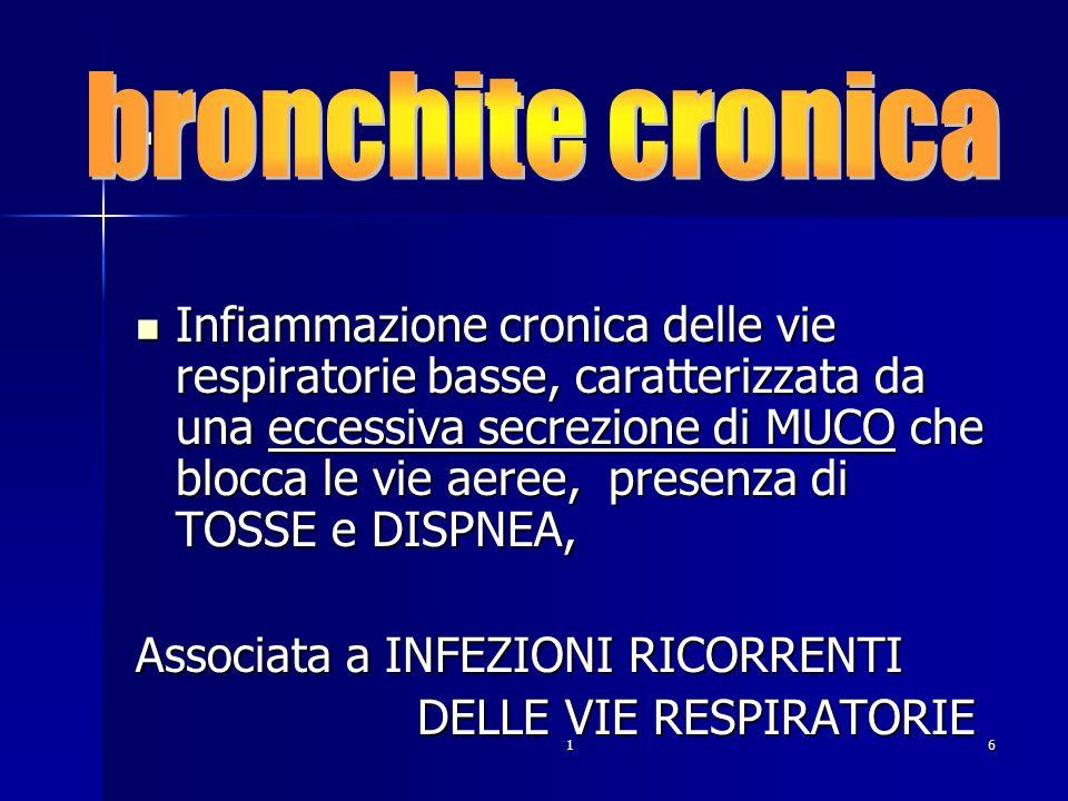 . bronchite cronica.