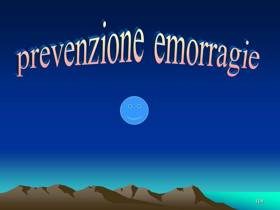 prevenzione emorragie