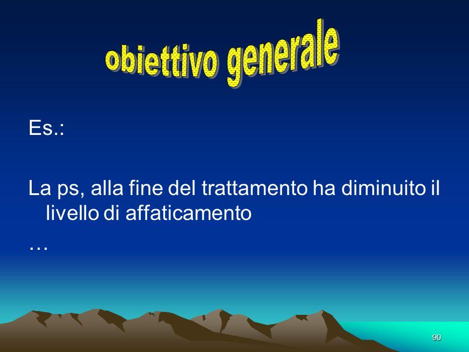 . obiettivo generale Es.: