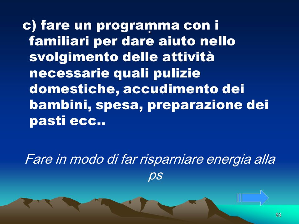 Fare in modo di far risparniare energia alla ps
