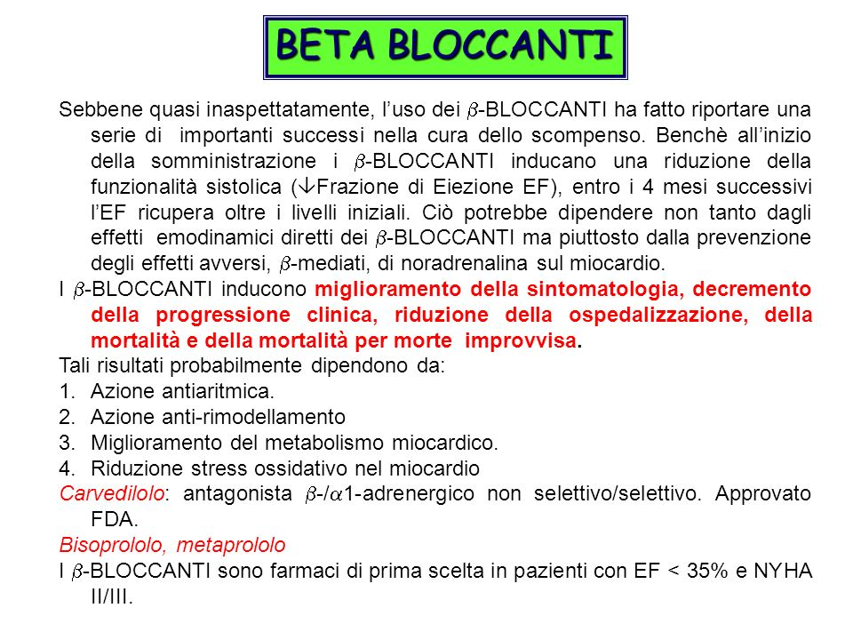 BETA BLOCCANTI