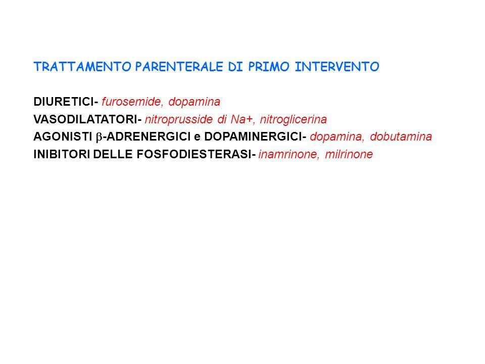 TRATTAMENTO PARENTERALE DI PRIMO INTERVENTO