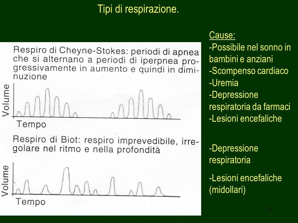 Tipi di respirazione. Cause: Possibile nel sonno in bambini e anziani